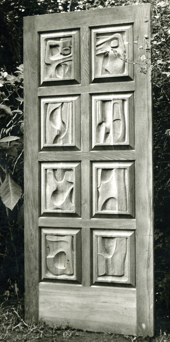Jack Sandler Door-Sculpture, Sculptor Mike Edwards