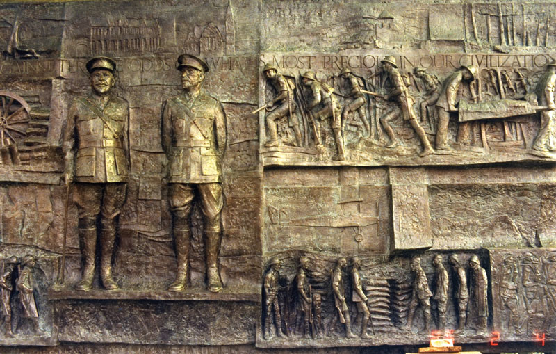 Delville Wood Museum, Bronze Relief, Mike Edwards