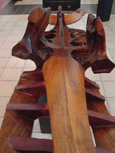 Marine I, Sculptor Mike Edwards,abstract sculpture in wood