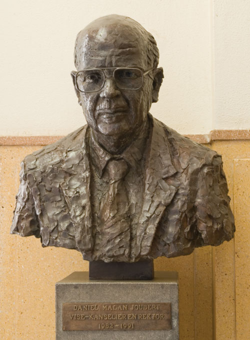 Prof. Danie Joubert, Sculptor Mike Edwards,portrait commission