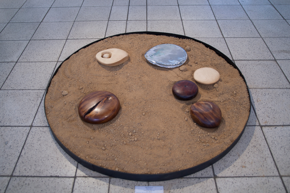 Beach Find (Circle II),, Sculptor Mike Edwards,abstract sculpture