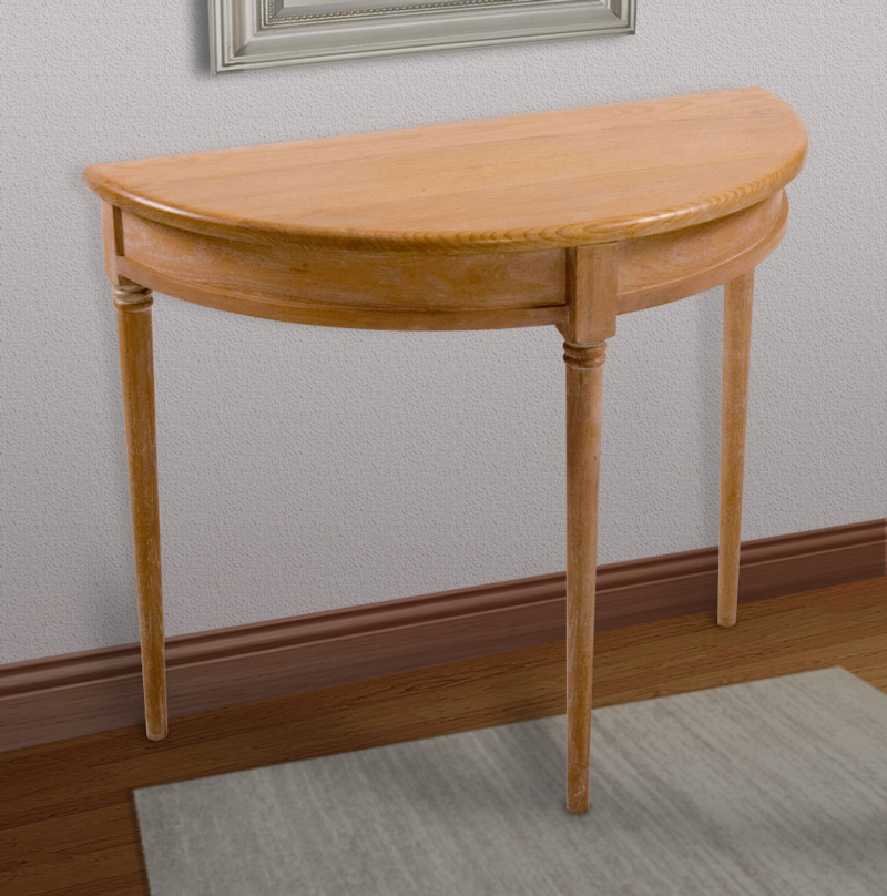 Demi-lune table, designer Mike Edwards