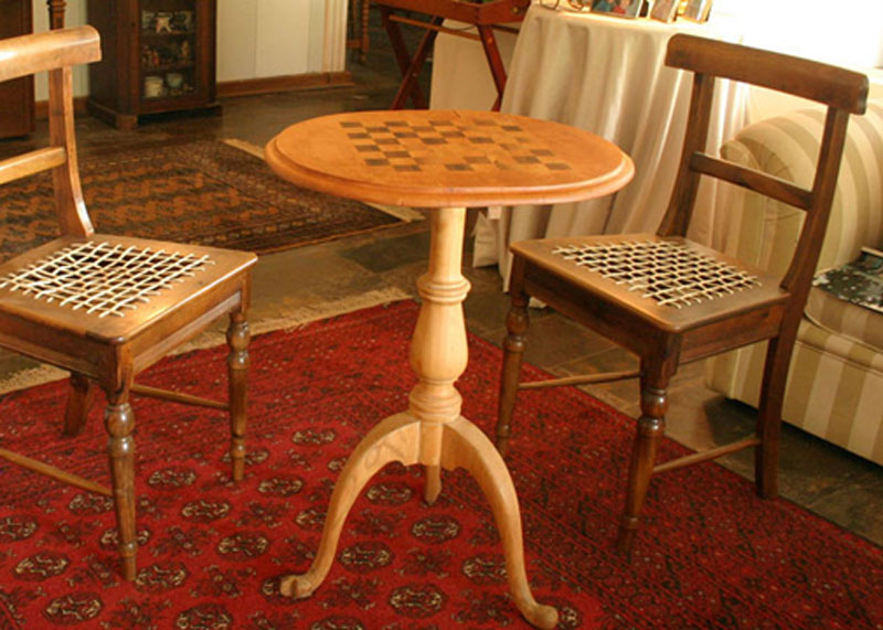 Chess table, designer Mike Edwards