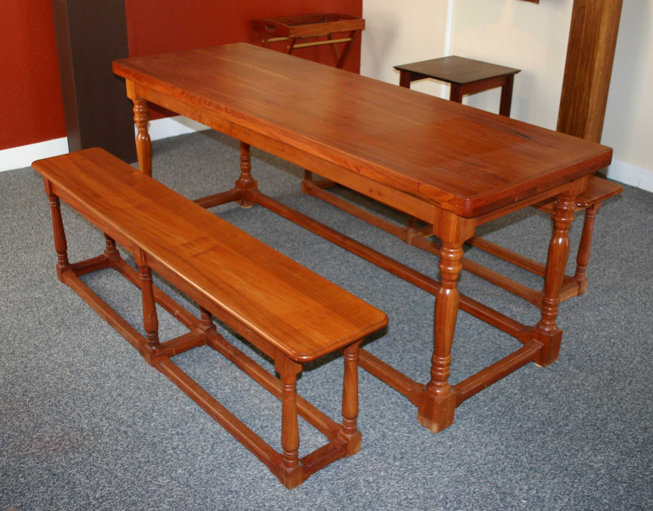 Refectory table, designer Mike Edwards